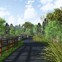 A new shared-use trail will be constructed along the entire nine-mile length of the Route 202 Parkway.  This paved, 12-foot wide trail will provide a non-motorized transportation and recreational facility for walkers, runners, skaters and cyclists. This new trail will enhance the region's pedestrian and cycling network by connecting the large and growing system of trails in Montgomery and Bucks counties. The 202 Parkway Trail will have access points (with ample free parking) at:Knapp Road, Route 309, Stump Road near County Line Road, Bristol Road, and New Britian Road.  The Parkway Trail is scheduled to be openned at the end of October 2012.