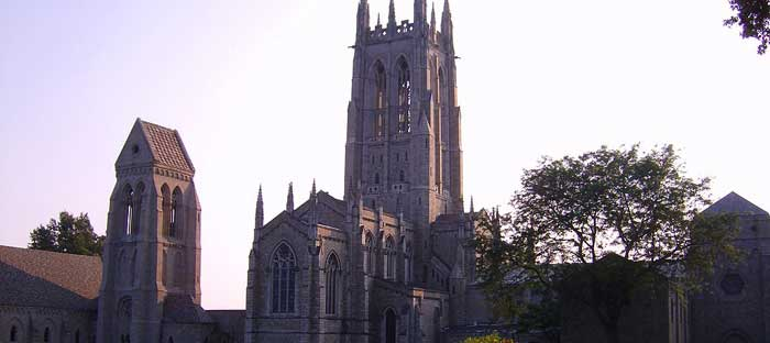 Bryn Athyn Cathedral is the episcopal seat of The General Church of the New Jerusalem in Bryn Athyn, Montgomery County PA